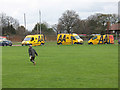 TQ3976 : AA vans on Blackheath by Stephen Craven