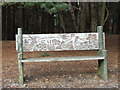 SZ0195 : Carved Bench, Canford Heath by Lorraine and Keith Bowdler