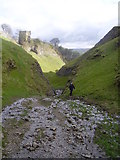 SK1482 : Peveril Castle from Cave Dale by steven ruffles
