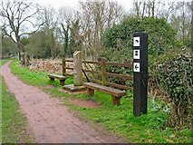 SO8581 : Staffordshire & Worcestershire Canal boundary stone Staffordshire side by P L Chadwick