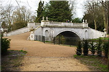 TQ2077 : Bridge in Chiswick House Gardens by Peter Trimming