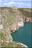 SX9456 : Berry Head Cliffs by Tony Atkin