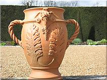 TQ1773 : Ham House: urn (Detail) by Stephen Craven