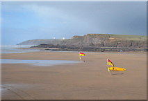 SS2006 : Summerleaze Beach at low tide by Rod Allday