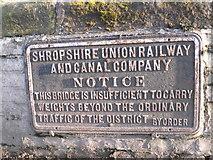 SJ8512 : Notice on Tavern Bridge by Eirian Evans