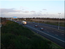 SK0407 : The M6 Toll Road near Chasewater by Eirian Evans