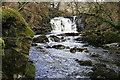 NX6580 : Holy Linn Waterfall by Walter Baxter