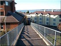 SH4862 : The northern footbridge over the Caernarfon inner bypass by Eric Jones