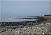 SN5066 : Cardigan Bay shoreline at Llanon by Nigel Brown
