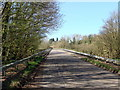 ST3857 : Road to Christon about to cross the M5 by Ruth Sharville