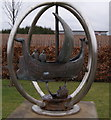 NS5167 : Clyde View Park sculpture by Thomas Nugent