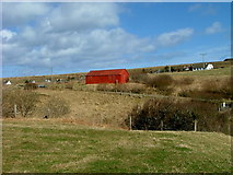 NG4867 : Red shed at Staffin by Dave Fergusson