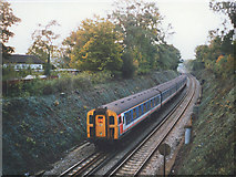 TQ5359 : Railway cutting north of Otford station by Stephen Craven