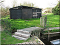 TG3204 : Shed by Rockland St Mary Staithe by Evelyn Simak