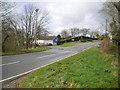 SN1637 : Road junction at Llanfair Nant-Gwyn by Richard Law
