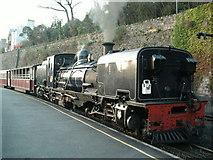 SH4862 : Welsh Highland Railway steam loco at Caernarfon by Raymond Knapman