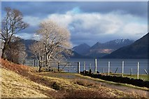 NM9459 : The old road at Inversanda Bay by Alan Reid