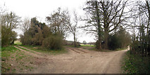 TQ8554 : Footpath Junction on Pilgrims Way by Oast House Archive