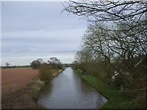 SJ7626 : The Shropshire Union Canal at Shebdon by John Lord