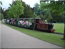 SK0573 : Miniature railway in the Pavilion Gardens, Buxton by Andrew Abbott