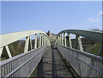 SE1039 : Footbridge over Bingley Bypass by Betty Longbottom