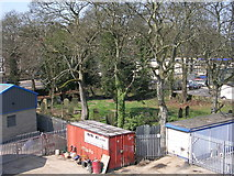 SE1039 : Burial Ground - viewed from Footbridge over Bingley Bypass by Betty Longbottom