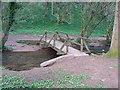 ST4994 : Rustic Bridge over Mounton Brook by Ruth Sharville
