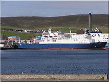HU4642 : Cargo vessel Clare at Holmsgarth ferry terminal by Robbie
