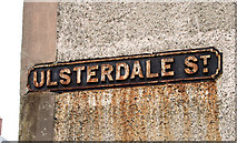 J3673 : Ulsterdale Street sign, Belfast by Albert Bridge