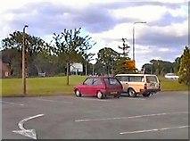 SJ6652 : The Fleece car park by Gerald England