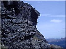 NN2605 : A climber on the SE cliffs of the North peak of Beinn Artair by Alan Murray Walsh