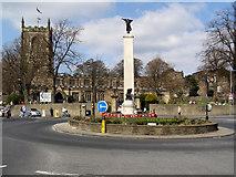 SD9951 : Skipton War Memorial and Holy Trinity Church by David Dixon