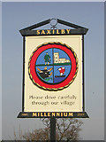 SK8976 : Saxilby Village Sign by Richard Croft