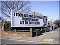 TQ5088 : Conservative Party Election poster, London Road, Romford by PAUL FARMER
