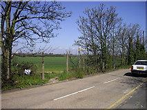 TQ4988 : Field next to Lowland Gardens, Romford by PAUL FARMER