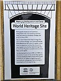 SJ2742 : World Heritage Site Plaque, Pontcysyllte by Dr Richard Murray