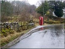 SD7186 : Telephone box, Howgill Bridge by Maigheach-gheal