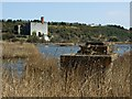 ST0366 : Aberthaw Lime Works and Lagoon by Kev Griffin