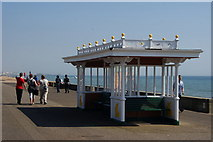 TQ2704 : Shelter on the Western Esplanade, Hove, Sussex by Peter Trimming
