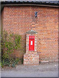 TM3569 : Four Crossways Victorian Postbox by Adrian Cable