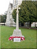 SU1734 : Winterbourn Earls - War Memorial by Chris Talbot