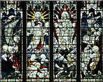 TF5002 : St Peter's church - east window (detail) by Evelyn Simak