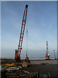 TA0623 : Quayside Cranes at Old Ferry Wharf, Barrow Haven by David Wright