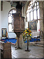 TF5016 : St Peter's church in Walpole St Peter - the pulpit by Evelyn Simak