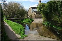 TF0117 : Ford and Footbridge Church Lane, Little Bytham by John Walton
