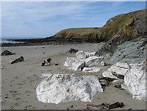 SH2035 : White boulders by Jonathan Wilkins