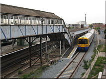 TQ3676 : New Cross Gate station: first day of the Overground by Stephen Craven
