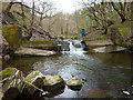 SD8512 : Weir on Cheesden Brook by Alexander P Kapp
