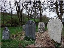 SM9533 : Graves at Llanstinan church by ceridwen