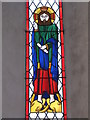 NY5674 : St. Cuthbert's Church Bewcastle - stained glass window (east end) by Mike Quinn